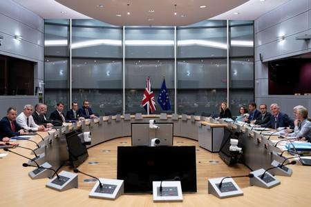 Britain's Brexit Secretary Stephen Barclay meets with European Union's chief Brexit negotiator Michel Barnier in Brussels
