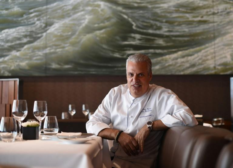 Eric Ripert, chef and co-owner of Le Bernardin in New York, shared top spot on the French-based list