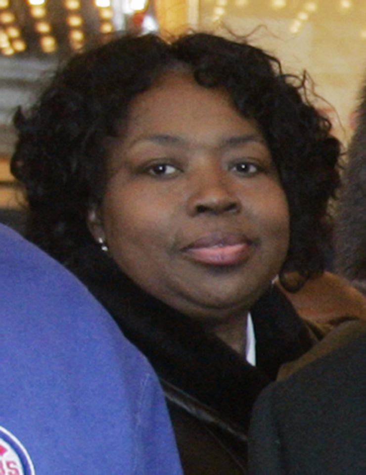 ** FILE **This March 6, 2007 file photo shows Darnell Donerson, the mother of Oscar-winning actress Jennifer Hudson, at the Chicago Theatre in Chicago. The personal publicist of Jennifer Hudson said Friday, Oct. 24, 2008 that Chicago police are investigating the deaths of Hudson's mother Darnell Donerson and brother Jason Hudson, who were found shot dead at their South Side home. (AP Photo/Brian Kersey)