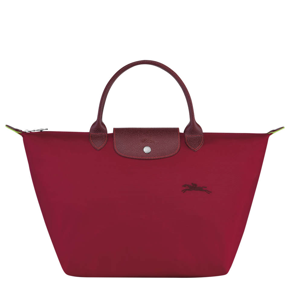 Le Pliage Green bag in red.  (PHOTO: Longchamp)