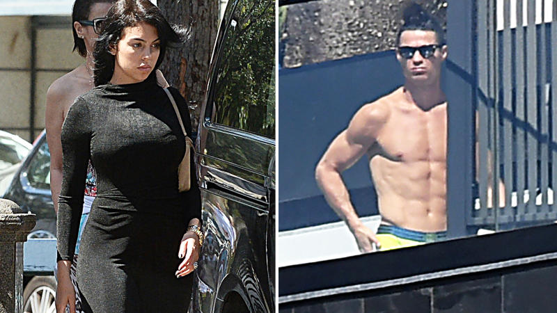 Cristiano Ronaldo and partner Georgina Rodriguez, pictured here in Portugal during the coronavirus crisis.