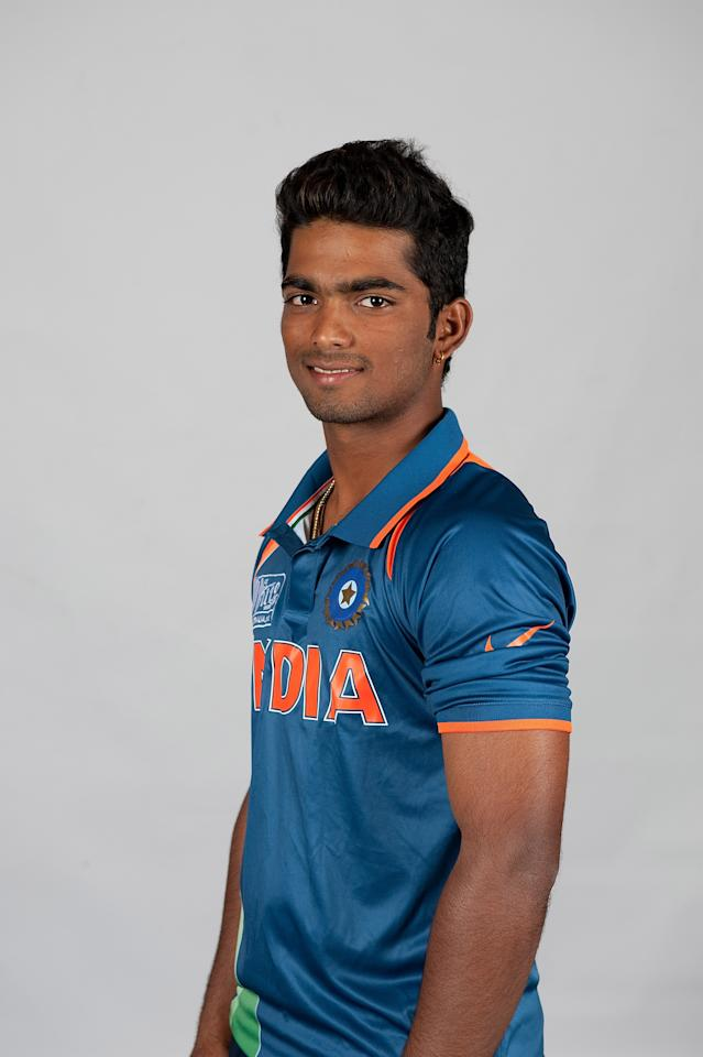 BRISBANE, AUSTRALIA - AUGUST 06:  Vijay Zol of India poses during a ICC U19 Cricket World Cup 2012 portrait session at Allan Border Field on August 6, 2012 in Brisbane, Australia.  (Photo by Matt Roberts-ICC/Getty Images)