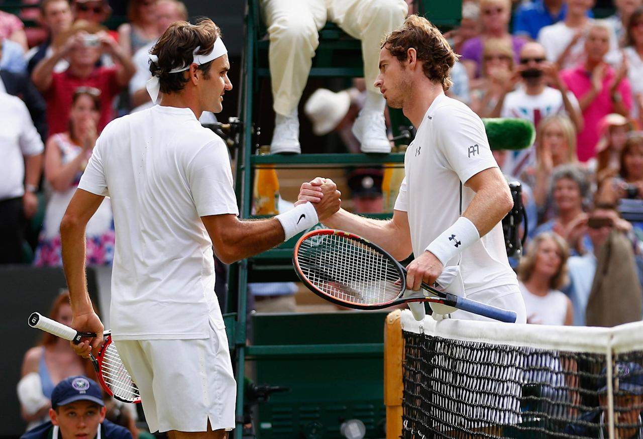Roger Federer (left) and Andy Murray (right) are expected to go deep at Wimbledon in 2017.