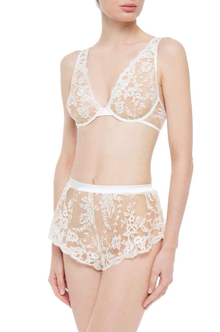Cosabella 'Rosie' Embroidered Tulle Bra (Photo via The Outnet)