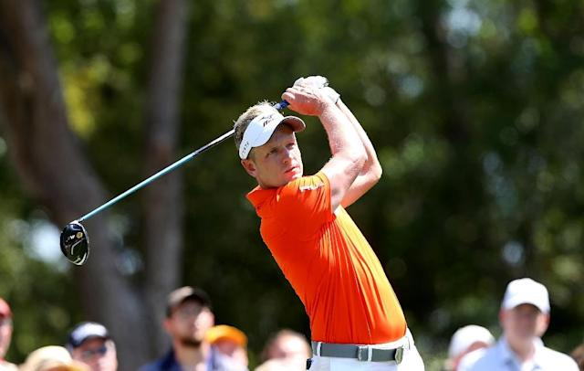 Luke Donald of England hits a tee shot on the 9th hole during the second round of the 2017 RBC Heritage at Harbour Town Golf Links on April 14, 2017 in Hilton Head Island, South Carolina (AFP Photo/Tyler Lecka)