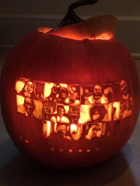PHOTO: A Zoom meeting pumpkin carving.  (Suzy Mink )