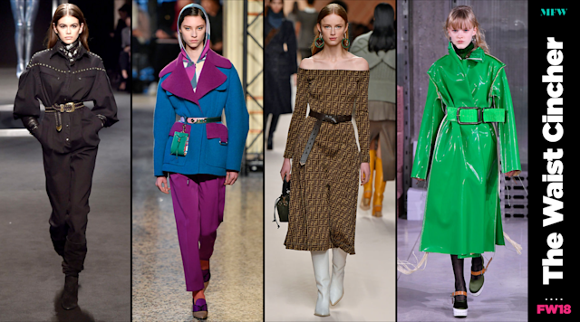 Using a belt to cinch your waist is the simplest and most affordable trend from Milan Fashion Week. (Photo: Getty; Art: Quinn Lemmers)
