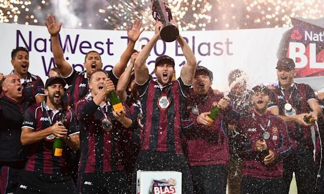 "<span class=""element-image__caption"">The NatWest T20 Blast tournament, won by Northamptonshire last season, will continue but is likely to take on secondary status.</span> <span class=""element-image__credit"">Photograph: Gareth Copley/Getty Images</span>"