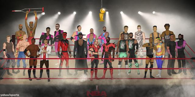 Here are the re-imagined NBA pairings as classic WWE tag teams as they get ready to rumble for the Larry O'Brien Trophy.