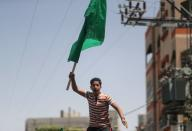 Palestinian protest against President Abbas' decision to postpone elections
