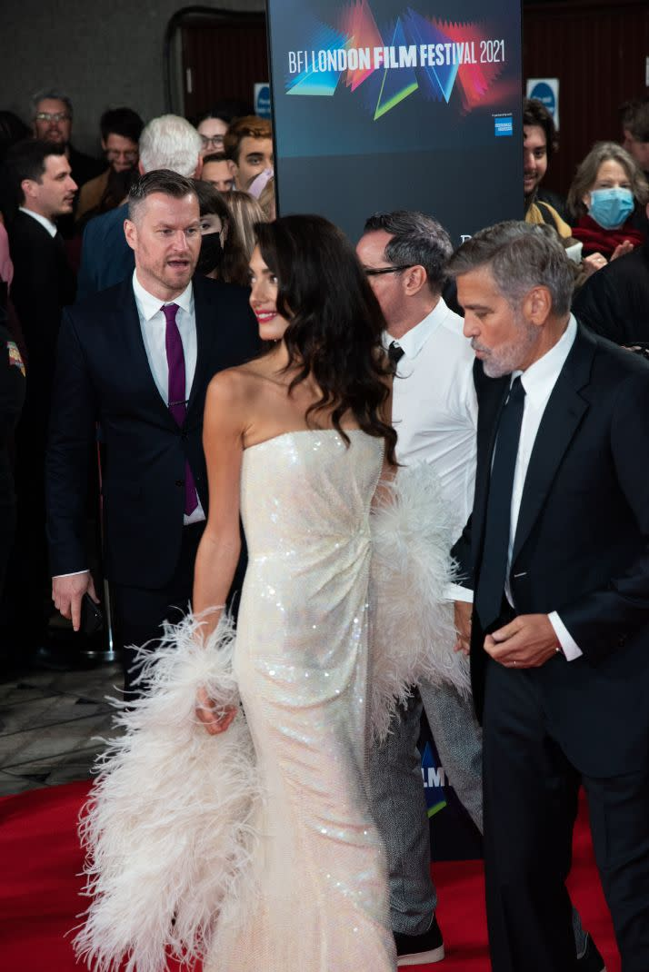 George and Amal Clooney at & # x00201c; The Tender Bar & # x00201d;  Premiere during the 65th BFI London Film Festival at the Royal Festival Hall on October 10, 2021 in London.  - Credit: MEGA