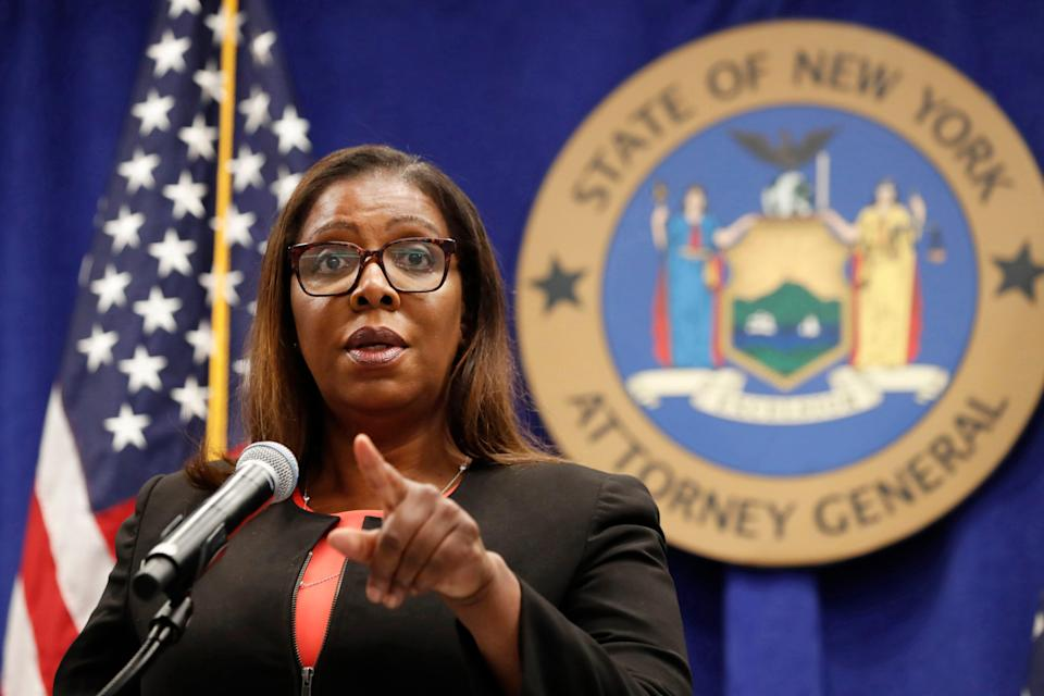 New York State Attorney General Letitia James on Aug. 6, 2020, in New York.