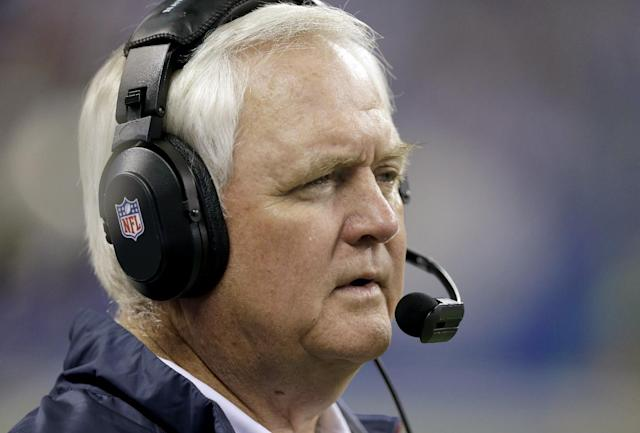 Houston Texans head coach Wade Phillips watches from the sideline during the second half of an NFL football game against the Indianapolis Colts in Indianapolis, Sunday, Dec. 15, 2013. (AP Photo/Darron Cummings)