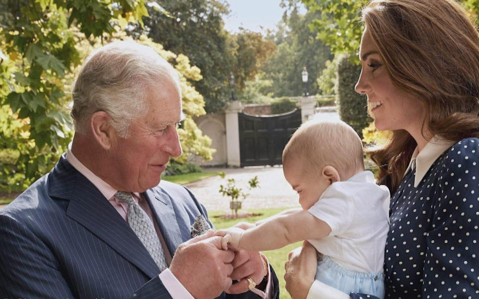 Prince Charles dotes on Prince Louis in a new photo released by Buckingham Palace. Source: Chris Jackson/Getty Images via Buckingham Palace