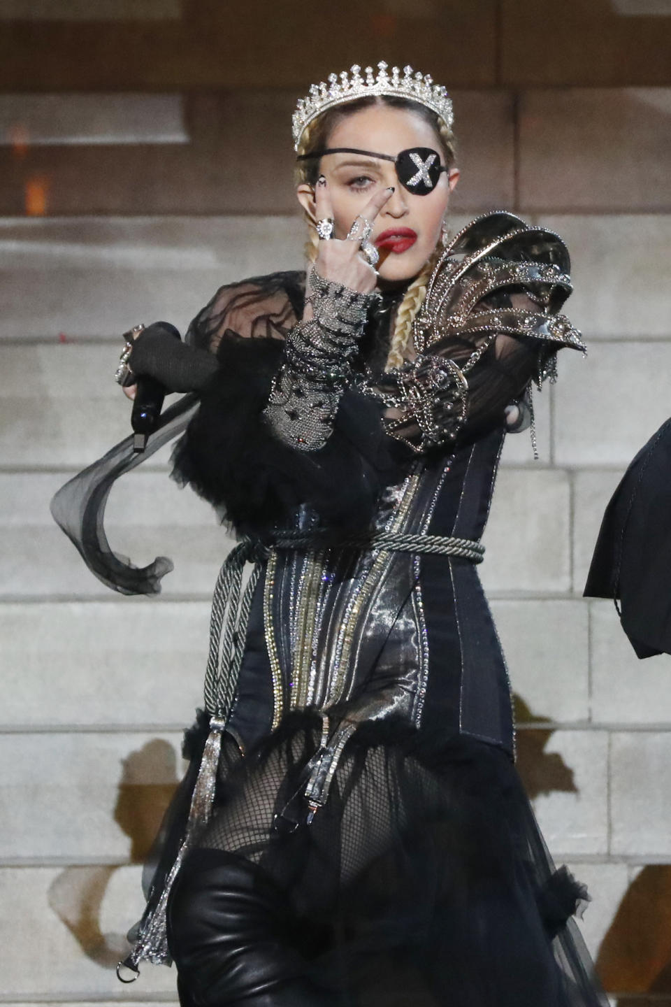 Madonna, performs live on stage after the 64th annual Eurovision Song Contest held at Tel Aviv Fairgrounds on May 18, 2019 in Tel Aviv, Israel. (Photo by Michael Campanella/Getty Images)