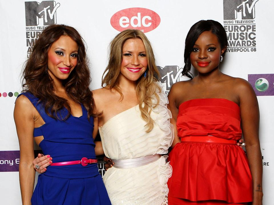 Amelle Berrabah, Heidi Range and Keisha Buchanan during the third incarnation of the Sugababes in 2008 (Gareth Cattermole/Getty Images)