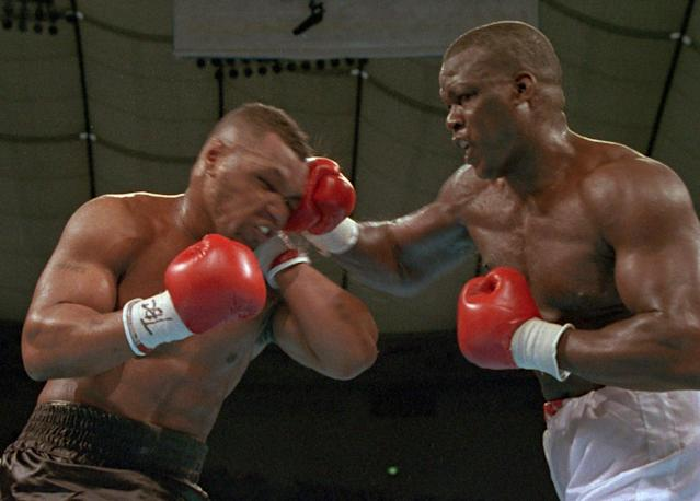 """<p>Tyson was not only undefeated at 37-0, but he was dominant with 35 knockouts, many of them in the first couple minutes of the first round. Tyson looked absolutely unbeatable while Douglas was seven years older and had a fairly unremarkable career to that point. According to various reports at the time, only one casino in Las Vegas offered gambling odds on the fight and it had Tyson as a 42 to 1 favorite. All that set the stage for Douglas' shocking knockout of """"Iron"""" Mike in the 10<sup>th</sup> round. </p>"""