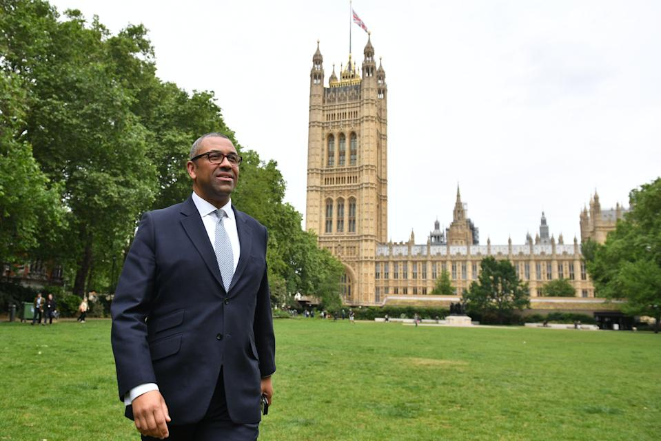 Braintree MP, former deputy chairman of the Conservative Party and under secretary of state in the Department for Exiting the European Union James Cleverly in Westminster, London after he entered the Conservative leadership race, becoming the 11th candidate.
