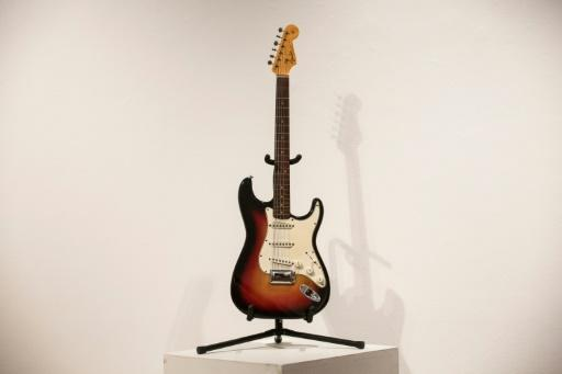 """The Fender Stratocaster electric guitar played by musician Bob Dylan on July 25, 1965 at Newport Folk Festival, better known as """"the night Dyan went electric"""""""