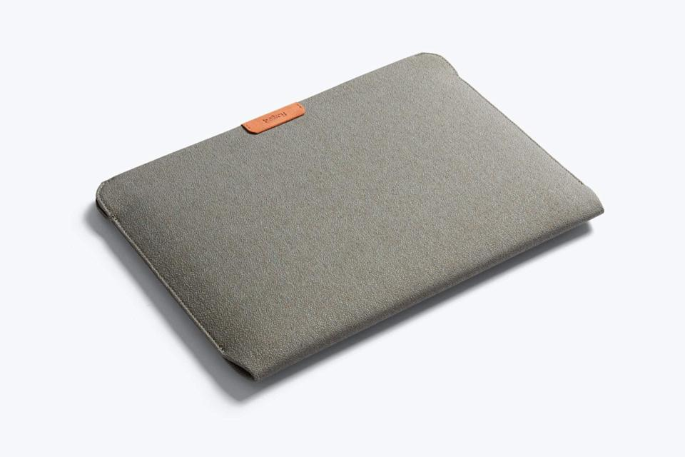"""<br><br><strong>Bellroy</strong> Quilted Microfiber Laptop Sleeve, $, available at <a href=""""https://go.skimresources.com/?id=30283X879131&url=https%3A%2F%2Fbellroy.com%2Fproducts%2Flaptop-sleeve%2Flooma_weave_13in%2Flimestone"""" rel=""""nofollow noopener"""" target=""""_blank"""" data-ylk=""""slk:Bellroy"""" class=""""link rapid-noclick-resp"""">Bellroy</a>"""