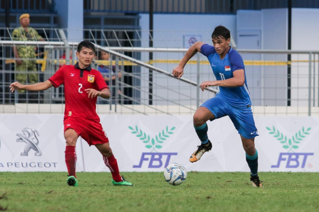 <p>The Young Lions defeated Laos 2-0 at the Selayang Stadium on Friday (18 August). Photo: Fadza Ishak/Yahoo News Singapore </p>