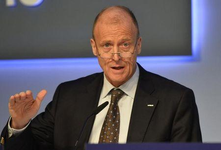 FILE PHOTO - Airbus Group Chief Executive Tom Enders speaks during a news conference on the aerospace group's annual results, in London