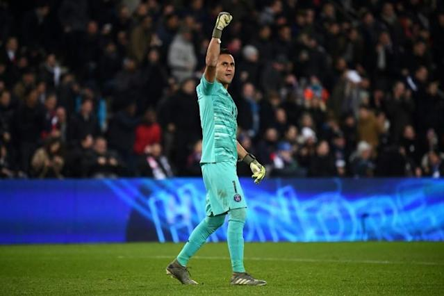 Keylor Navas showed just why Paris Saint-Germain were so keen to sign him from Real Madrid with his penalty save against Club Brugge on Wednesday (AFP Photo/FRANCK FIFE)