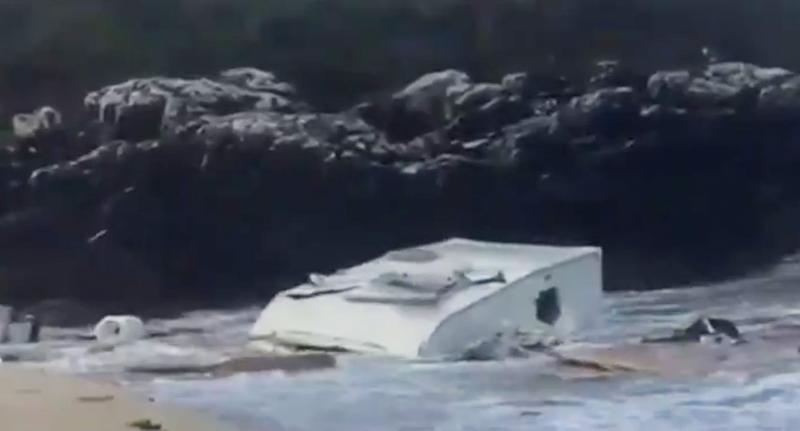 Woman in Ireland dies after caravan blows off cliff in Storm Ali