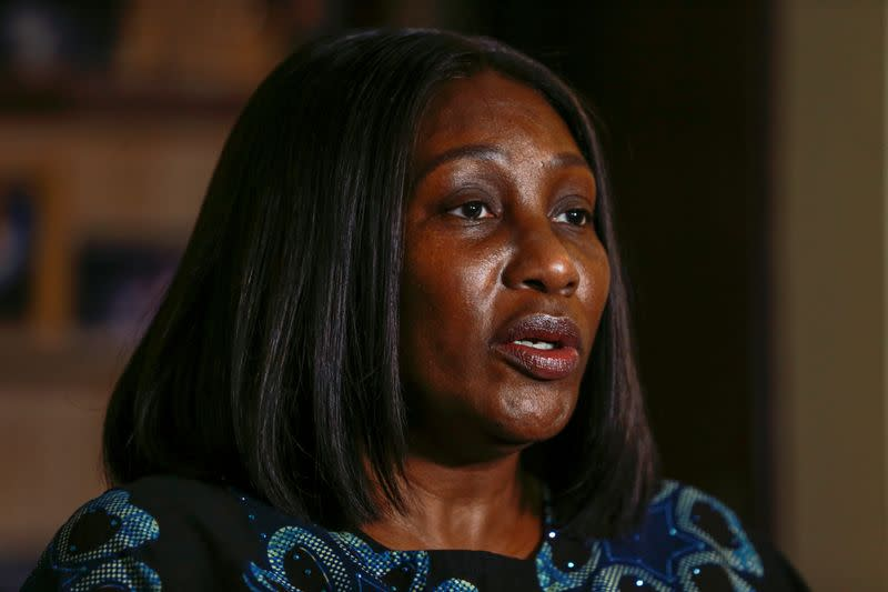 Adaora Ikenze, Facebook's Head of Public Policy speaks with Reuters during an interview in Abuja