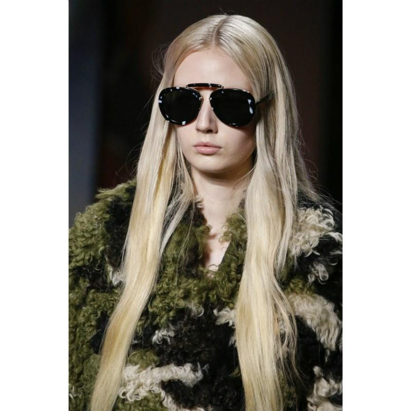 """Long lengths were all over the high fashion runways, but this particular look from Miu Miu's Paris fashion show is rather easy to do yourself. Hairstylist <a href=""""https://www.instagram.com/mrsnicoleleal/?hl=en"""">Nicole Leal</a> tells us, """"To achieve a super long look, I recommend a sew-in extension, but for a permanent look, <a href=""""https://www.greatlengths.net/en/extensions/hair-extensions/"""" rel=""""nofollow"""">Great Lengths</a> [Extensions are] the best."""" Use a comb, like the <a href=""""https://www.tangleteezer.com/us/all-brushes/styling/back-combing-hairbrush/pink-embrace-teaser.html"""" rel=""""nofollow"""">Tangle Teezer Back-Combing Hairbrush</a> to make a deeply-defined part, then use <a href=""""https://www.allure.com/gallery/best-shine-sprays-sheen-sprays?mbid=synd_yahoo_rss"""">a shine</a> or <a href=""""https://www.allure.com/gallery/best-dry-texture-sprays?mbid=synd_yahoo_rss"""">texture spray</a> to finish off the look."""