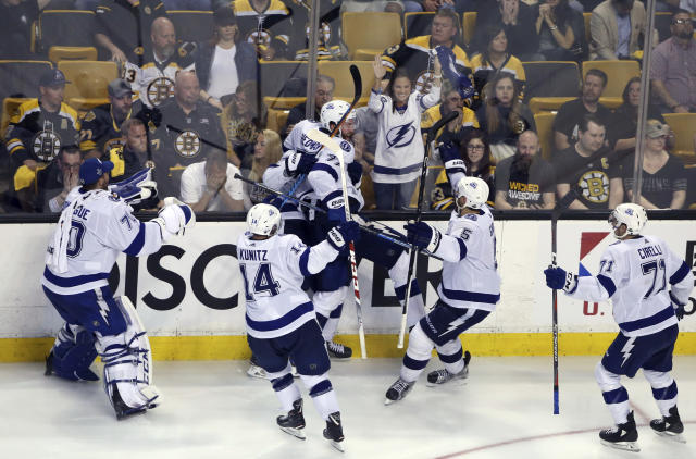 Lightning beat Bruins 4-3 in OT to take 3-1 series lead 90aeb0e45