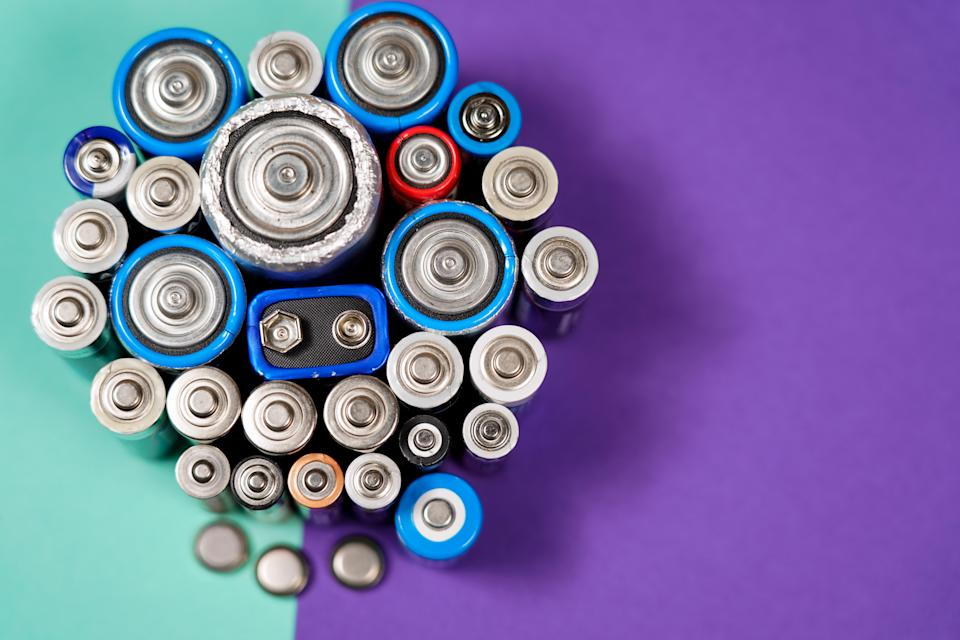 Non-rechargeable AA, AAA, C, D or 9V batteries shouldn't be recycled. Image: Getty