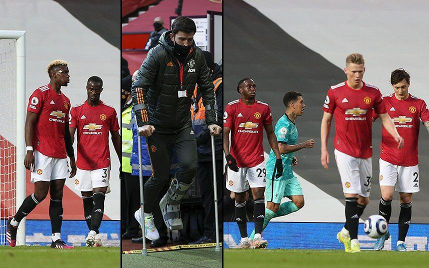 Manchester United look too open, too ragged and too disorganised with Harry Maguire (inset) out injured - GETTY IMAGES