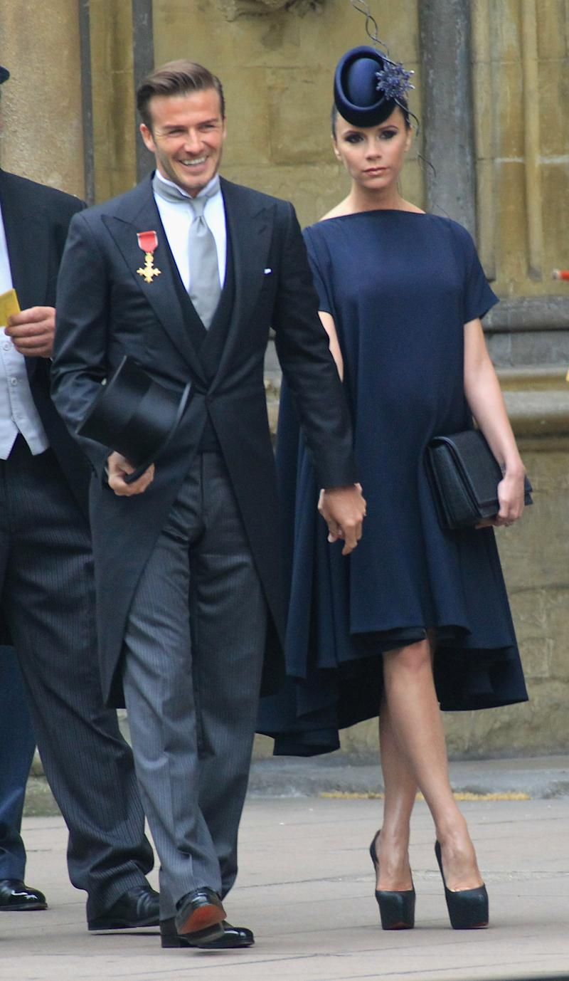 David and Victoria Beckham at the Duke and Duchess of Cambridge's 2011 nuptials [Photo: Getty]