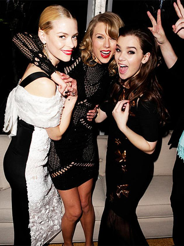 """<p>""""It's amazing to have friends who are so supportive."""" <br/><br/>– Hailee Steinfeld, on the super-loyal Swift</p><br/>"""