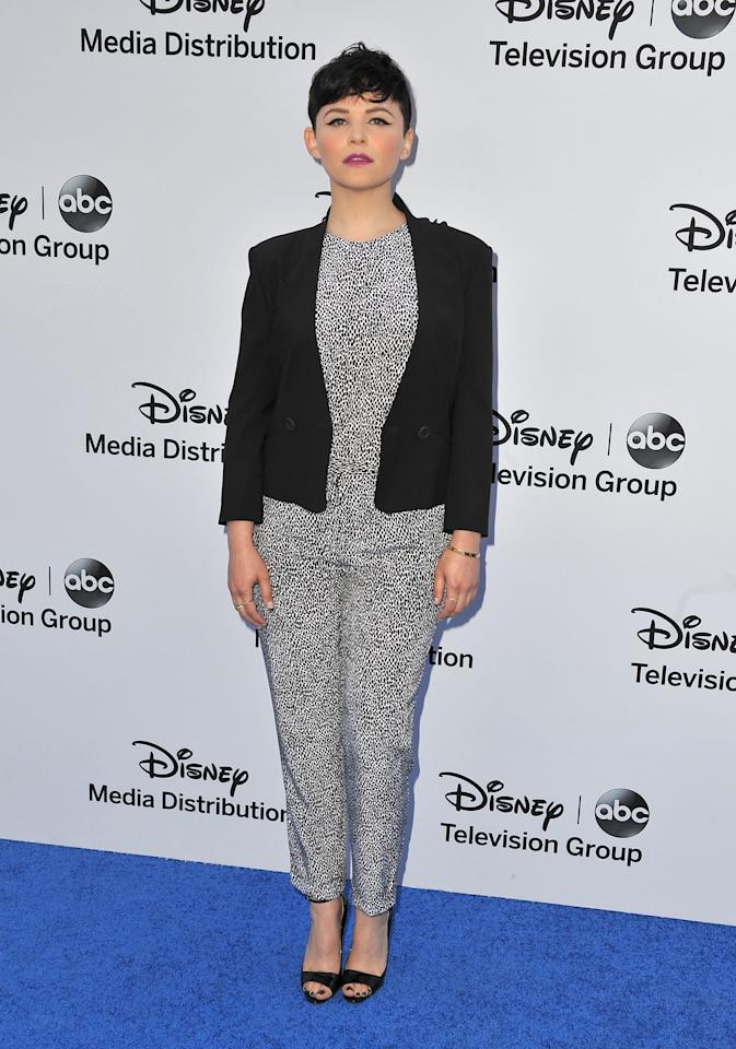 BURBANK, CA - MAY 19:  Actress Ginnifer Goodwin arrives at the Disney Media Networks International Upfronts at Walt Disney Studios on May 19, 2013 in Burbank, California.  (Photo by Angela Weiss/Getty Images)
