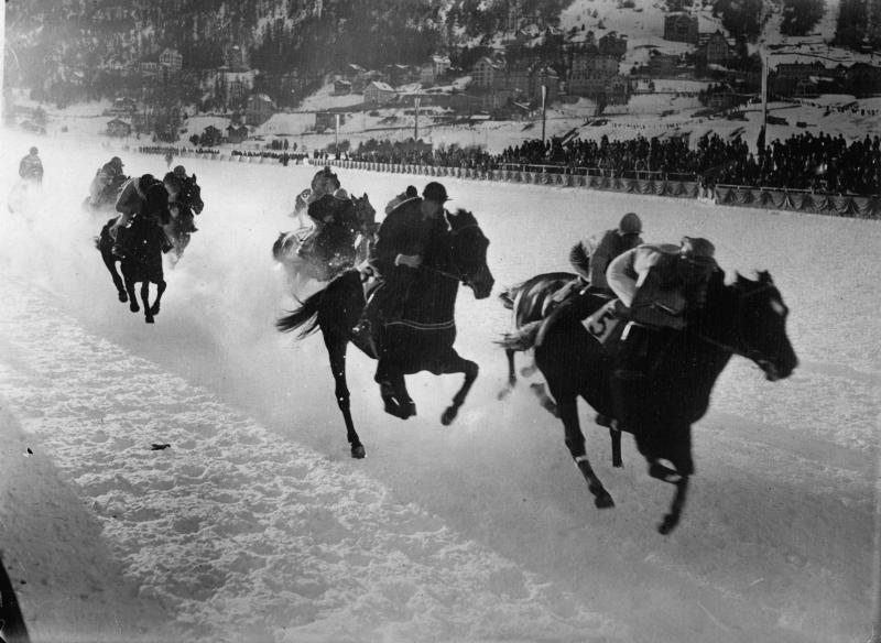 The Winter Olympic pentathlon included horseback riding. (Imagno via Getty Images)