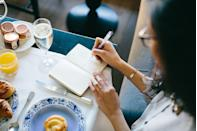 """<p>When it comes to finding ways to unwind, for some, <a href=""""https://www.oprahmag.com/entertainment/books/a26871729/jasmine-guillory-black-authors-fiction/"""" rel=""""nofollow noopener"""" target=""""_blank"""" data-ylk=""""slk:writing"""" class=""""link rapid-noclick-resp"""">writing</a> is even <a href=""""https://www.oprahmag.com/life/health/a27030704/how-to-start-meditating/"""" rel=""""nofollow noopener"""" target=""""_blank"""" data-ylk=""""slk:more calming than meditation"""" class=""""link rapid-noclick-resp"""">more calming than meditation</a>. There's nothing quite like taking the time for your own mental health and clearing your mind by putting your own thoughts on a page. Now, the question is, <em>where </em>exactly are you unloading these feelings? The journal (and <a href=""""https://www.oprahmag.com/life/g30158284/best-smart-pens/"""" rel=""""nofollow noopener"""" target=""""_blank"""" data-ylk=""""slk:the pen"""" class=""""link rapid-noclick-resp"""">the pen</a>!) are what make the experience so personal. And while we all have our preferences, we've found a diverse array of unique diaries, notebooks, and journals for writing that will keep those <a href=""""https://www.oprahmag.com/life/g27546767/purpose-quotes/"""" rel=""""nofollow noopener"""" target=""""_blank"""" data-ylk=""""slk:inspired words"""" class=""""link rapid-noclick-resp"""">inspired words</a> and <a href=""""https://www.oprahmag.com/life/relationships-love/g25629970/positive-affirmations/"""" rel=""""nofollow noopener"""" target=""""_blank"""" data-ylk=""""slk:affirmations"""" class=""""link rapid-noclick-resp"""">affirmations</a> flowing. So relieve some anxiety and pick from notebooks with guided prompts, colorful deigns, personalized details, and even one with an introduction by Oprah.</p>"""
