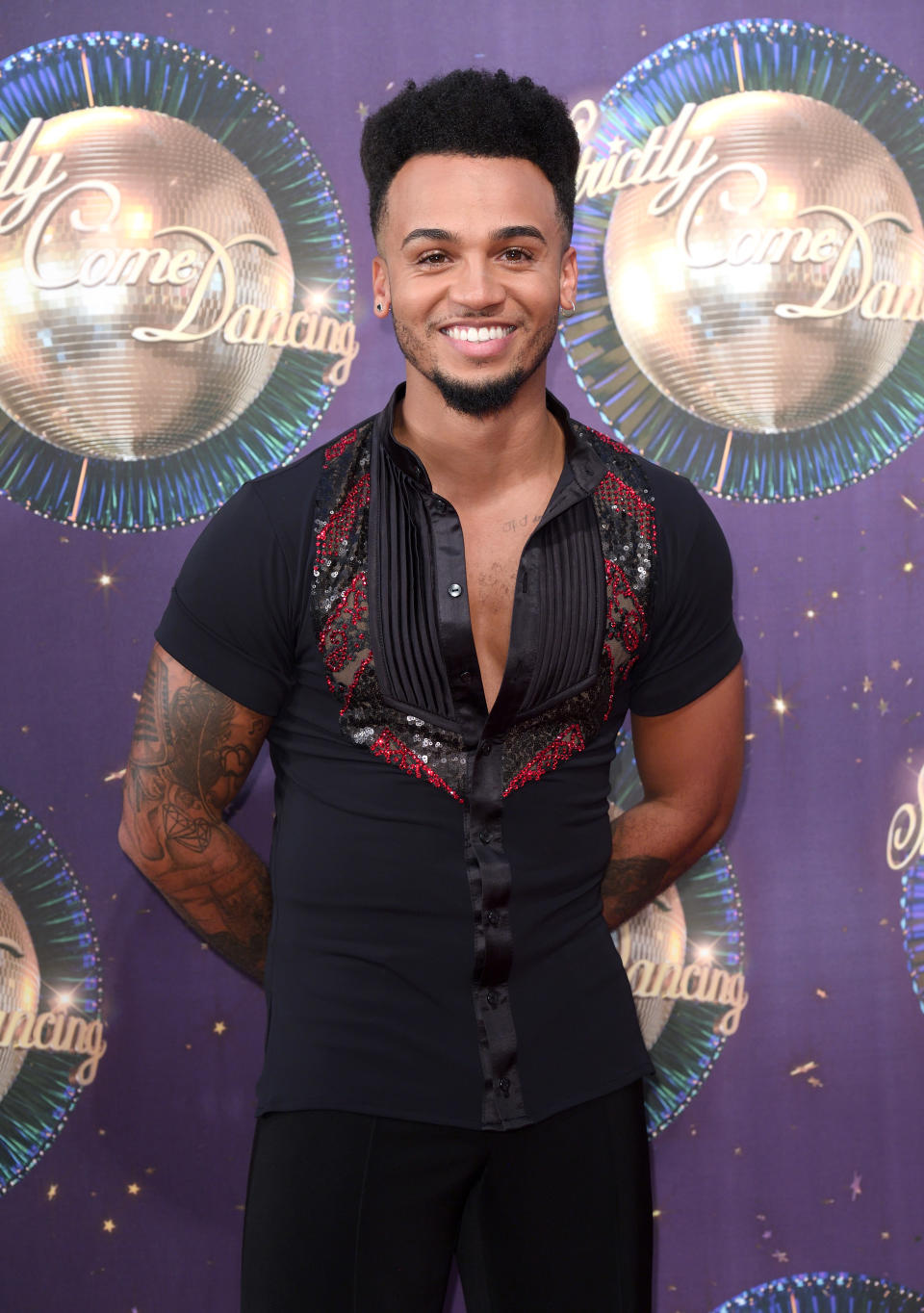 LONDON, ENGLAND - AUGUST 28:  Aston Merrygold attends the 'Strictly Come Dancing 2017' red carpet launch at Broadcasting House on August 28, 2017 in London, England.  (Photo by Karwai Tang/WireImage)