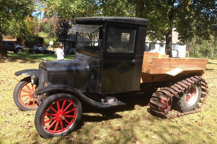ford model t snowmobile photo