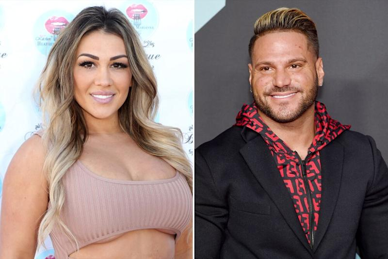 Jen Harley // Ronnie Ortiz-Magro   Gabe Ginsberg/Getty Images; Jamie McCarthy/Getty Images