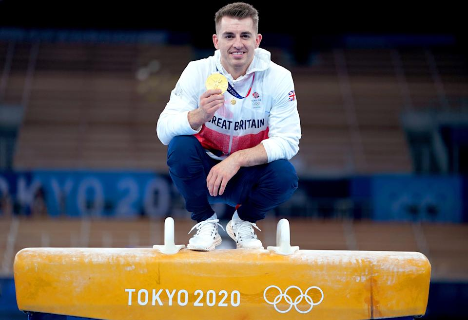Max Whitlock successfully defended his Olympic title on the pommel horse in Tokyo (Mike Egerton/PA) (PA Wire)
