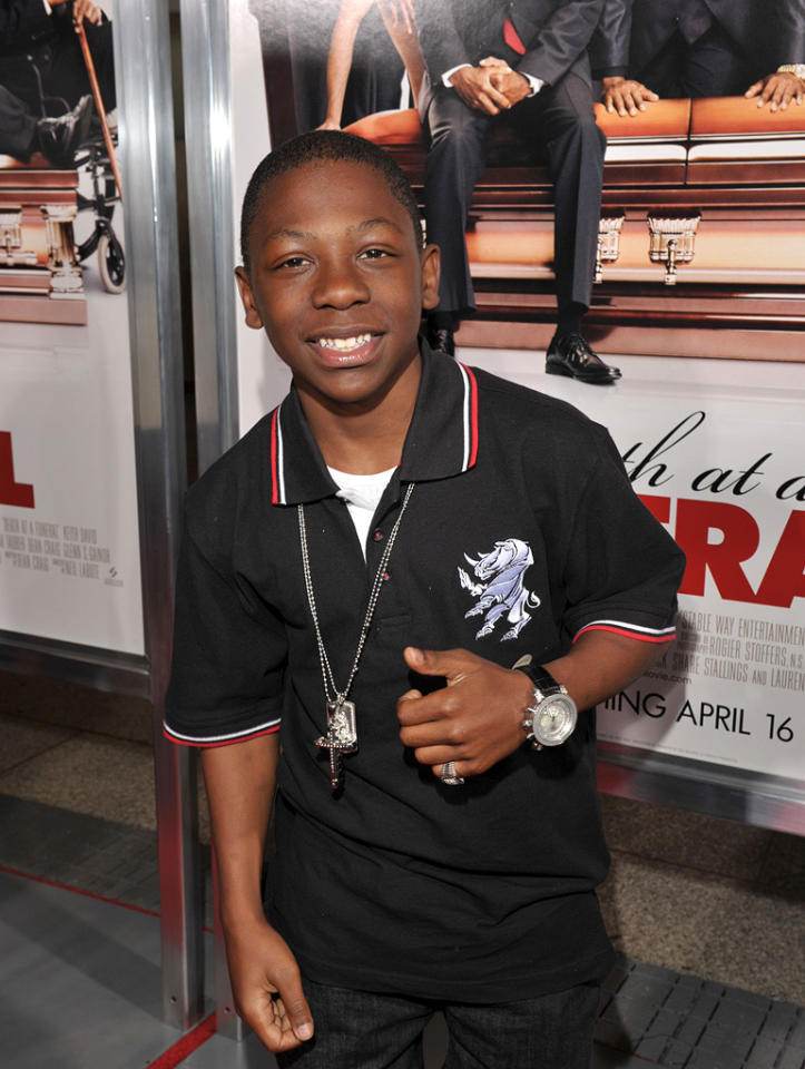 """<a href=""""http://movies.yahoo.com/movie/contributor/1809086345"""">Bobb'e J. Thompson</a> at the Los Angeles premiere of <a href=""""http://movies.yahoo.com/movie/1810077967/info"""">Death at a Funeral</a> - 04/12/2010"""