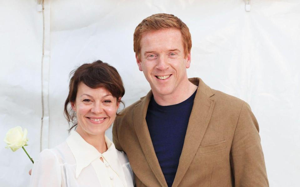 Helen McCrory, with her husband Damian Lewis, told only her closest family and friends about her cancer - Clara Molden for The Telegraph
