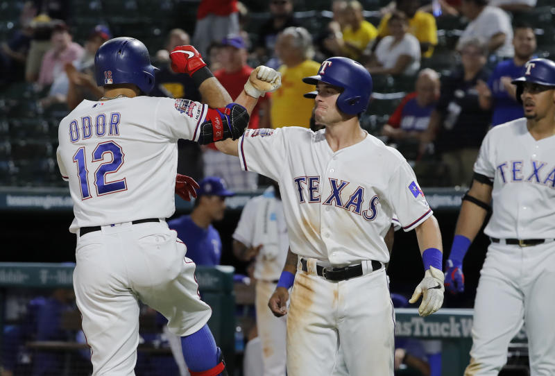 Odor HR pushes Texas past AL wild card-leading Rays 10-9