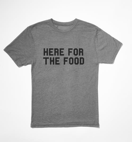 """<p>delish.com</p><p><strong>$25.00</strong></p><p><a href=""""https://store.delish.com/here-for-the-food-tshirt.html"""" rel=""""nofollow noopener"""" target=""""_blank"""" data-ylk=""""slk:BUY NOW"""" class=""""link rapid-noclick-resp"""">BUY NOW</a></p><p>A permanent mood. This one's for the friend who knows that the best part of sporting events...and birthday parties...and holidays is the food.</p>"""
