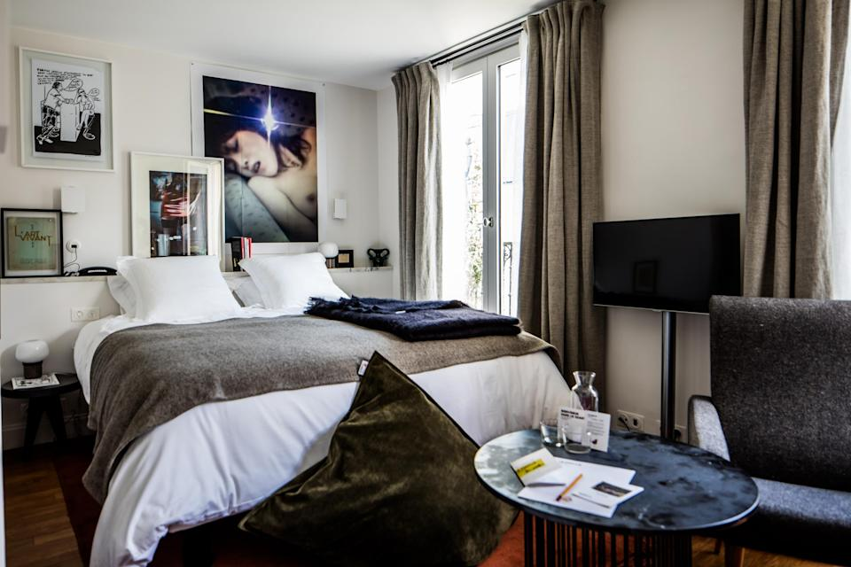 Rooms at LePigalle are decorated in the style of the area, known as Nouvelle Athènes, which inspired artists and poets in the late 19th century (LePigalle)La Pigalle