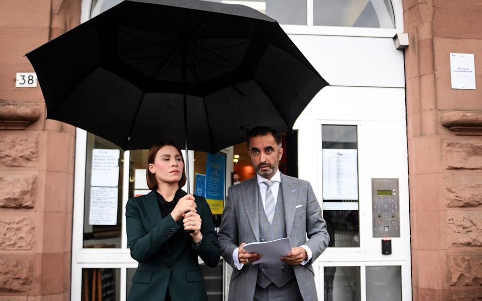 Aamer Anwar, who is representing the family - ANDY BUCHANAN/AFP