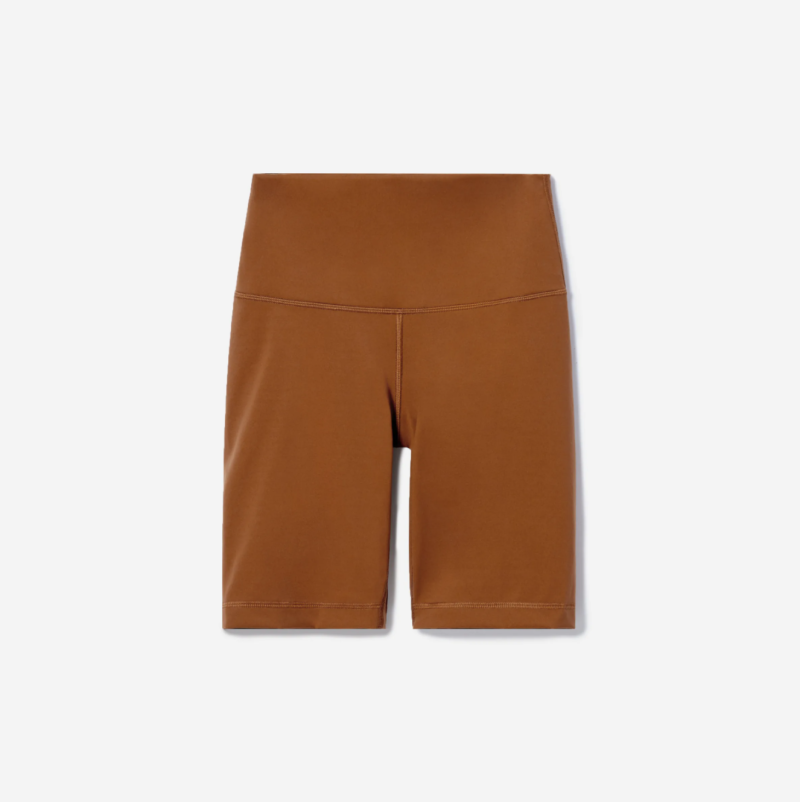The Perform Bike Short in Copper. Image via Everlane.