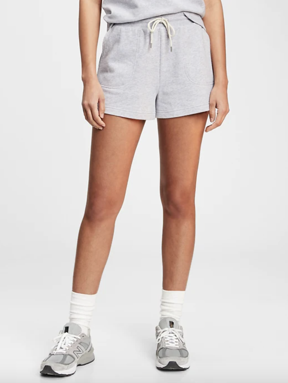 "Looking for a more sporty fit? Try this grey number from Gap, featuring deep pockets and a pre-washed terry fabric for a lived-in look. $40, Gap. <a href=""https://www.gap.com/browse/product.do?pid=765070052"" rel=""nofollow noopener"" target=""_blank"" data-ylk=""slk:Get it now!"" class=""link rapid-noclick-resp"">Get it now!</a>"